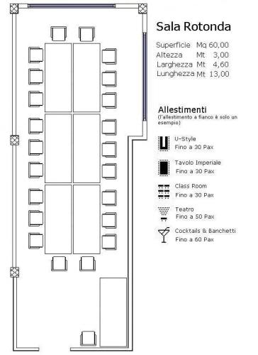 Sala rotonda best western hotel tre torri vicenza for Tavolo x 20 persone
